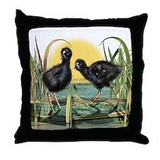 Puekeko Chicks Throw Pillow