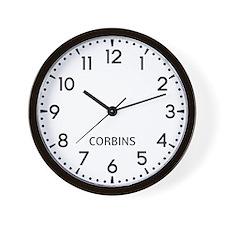 Corbins Newsroom Wall Clock