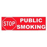 Bumper Sticker: STOP Public Smoking
