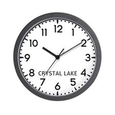Crystal Lake Newsroom Wall Clock