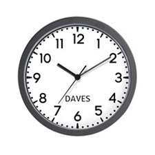 Daves Newsroom Wall Clock