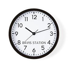 Davis Station Newsroom Wall Clock