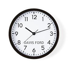 Davis Ford Newsroom Wall Clock