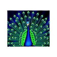 Pretty Peacock Throw Blanket