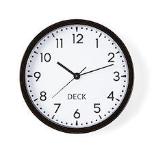 Deck Newsroom Wall Clock