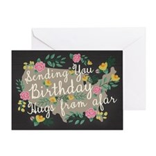 Hugs From Afar Birthday Card Greeting Cards