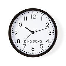 Ding Dong Newsroom Wall Clock