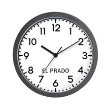 El Prado Newsroom Wall Clock