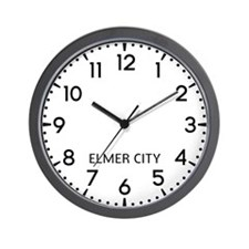 Elmer City Newsroom Wall Clock