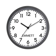 Emmett Newsroom Wall Clock