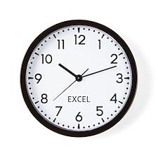 Excel Newsroom Wall Clock