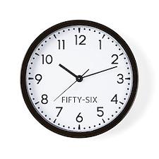 Fifty-Six Newsroom Wall Clock