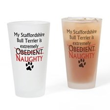 Naughty Staffordshire Bull Terrier Drinking Glass