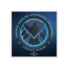 """Agents of Shield Full Bleed Square Sticker 3"""" x 3"""""""