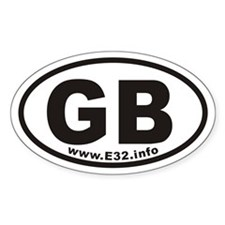 Gb Www.e32.info Oval Decal Decal