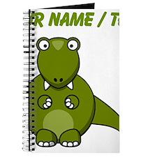 Custom Cartoon T-Rex Journal