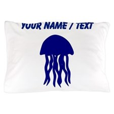Custom Blue Jellyfish Pillow Case