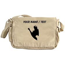 Custom Bird Silhouette Messenger Bag
