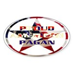 Proud American Pagan Oval Sticker