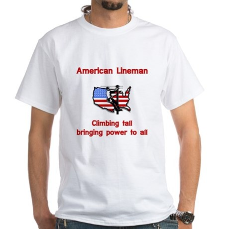 American Lineman White T-Shirt