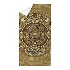 Aztec Calendar Beach Towel