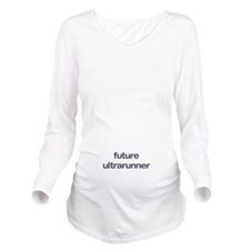 Future Ultrarun Blue Long Sleeve Maternity T-Shirt