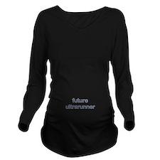 Future Ultrarun Blue Long Sleeve Maternity T-Shirt