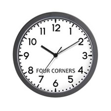 Four Corners Newsroom Wall Clock