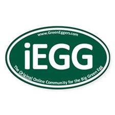 GreenEggers iEgg Oval Decal Decal