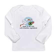 Cute Brazilian Long Sleeve Infant T-Shirt