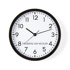 Freiberg Am Neckar Newsroom Wall Clock