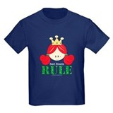 Red Heads Rule Kids Navy Blue T-shirt