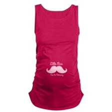 Pink Mustache Feb Maternity Tank Top