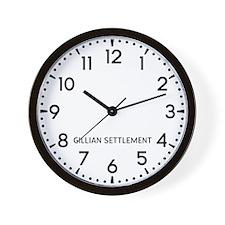 Gillian Settlement Newsroom Wall Clock