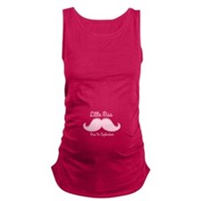 Pink Mustache Sep Maternity Tank Top
