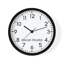 Grand Prairie Newsroom Wall Clock