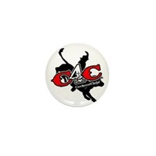 New C4c Bull Rider Design Mini Button (10 Pack)
