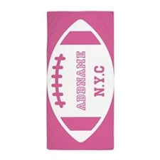 Custom Monogram Football Beach Towel