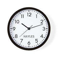 Hayles Newsroom Wall Clock