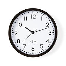 Hem Newsroom Wall Clock