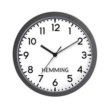 Hemming Newsroom Wall Clock