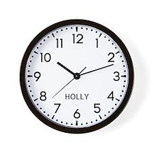 Holly Newsroom Wall Clock