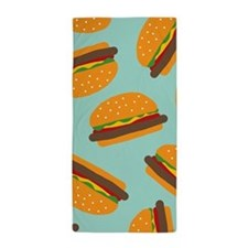 Cute Burger Pattern Beach Towel