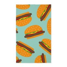 Cute Burger Pattern 3'x5' Area Rug
