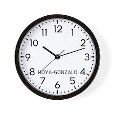 Hoya-Gonzalo Newsroom Wall Clock