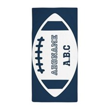 Custom Nautical Monogram Football Beach Towel