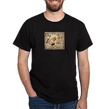 seashells nautical map vintage anchor T-Shirt