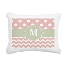 Pink Green Chevron Dots Personalized Rectangular C