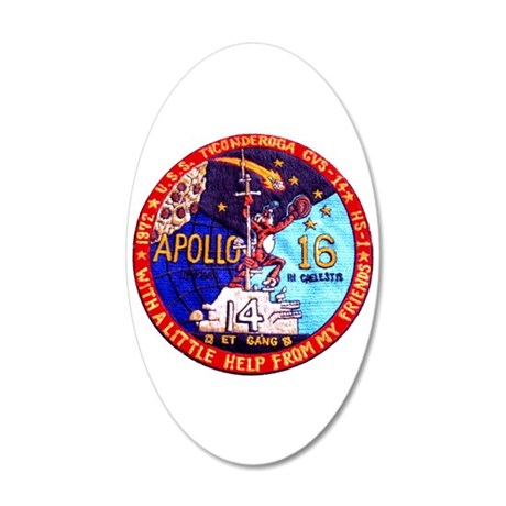 USS Ticonderoga & Apollo 20x12 Oval Wall Decal