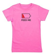 Feed Me Low Power Battery Girl's Tee